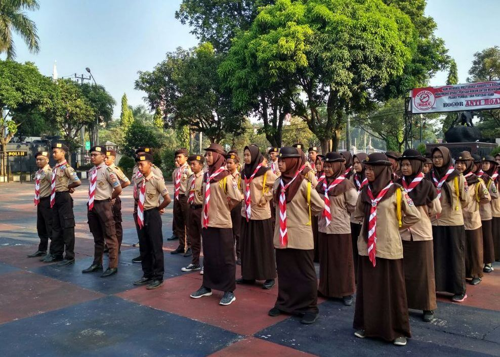 Kegiatan Saka Bhayangkara Pramuka Tingkat Kwarcab Bogor